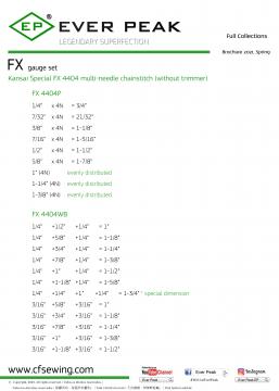 FX系列 關西多針鏈縫針位